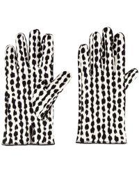 Raf Simons Animal Fabric Gloves - White