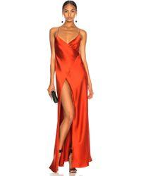 Michelle Mason - For Fwrd Strappy Wrap Gown - Lyst
