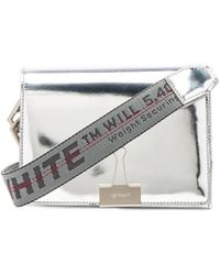 Mirror mini flap bag Off-white 026UUJgsj1