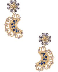 Dolce & Gabbana - Crystal Lunar Earrings - Lyst