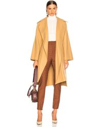 Chloé - Belted Double Face Wool Coat - Lyst