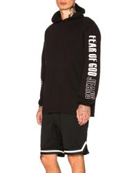 Fear Of God - Printed Heavy Jersey Long Sleeve Hoodie - Lyst