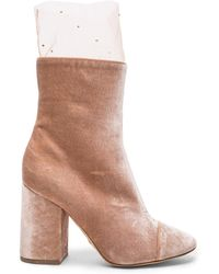 Brother Vellies - Fwrd Exclusive Velvet Bianca Boots With Swarovski Sock - Lyst