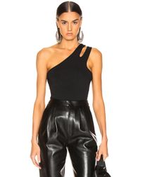 f3f625745e T By Alexander Wang - Sleek Rib Asymmetric Tank Top - Lyst