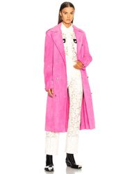 CALVIN KLEIN 205W39NYC - Soft Suede Trench Coat - Lyst