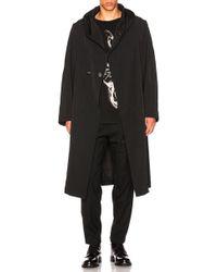 Yohji Yamamoto - Hooded Coat - Lyst