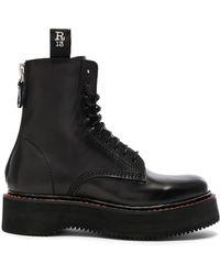 bddf813b8767 R13 - Leather Boots - Lyst