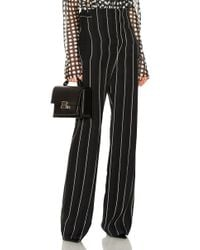 Haider Ackermann - Striped High Waisted Wide Leg Trousers In Black - Lyst