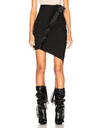 Saint Laurent - Gabardine Ruffle Trim Pleated Mini Skirt - Lyst