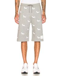 Thom Browne - Hector Embroidered Classic Sweat Shorts - Lyst