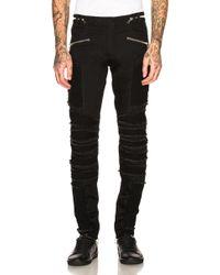 Balmain - Ribbed Slim Jeans - Lyst
