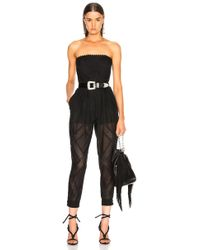 Philosophy Di Lorenzo Serafini - Strapless Belted Waist Jumpsuit - Lyst