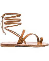 K. Jacques - Ellada Ankle Wrap Sandal - Lyst