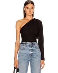 045602d96d6 Helmut Lang Women's Asymmetric Shoulder Top - Black - Size Medium in ...