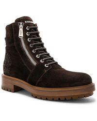 Balmain - Suede Ranger Army Boots - Lyst