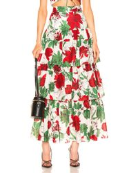 667a78f46d1be9 Alexis - Delora Tiered High-waist Floral-print Cotton-voile Maxi Skirt -