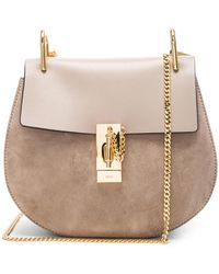 Chloé - Drew Small Suede And Leather Shoulder Bag - Lyst