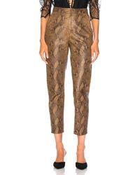 Zeynep Arcay - For Fwrd High Waist Skin Print Leather Pants - Lyst