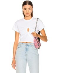 T By Alexander Wang - Keyhole Twist Cropped Tee - Lyst