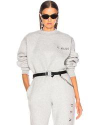 Alexander Wang - Chrome Decal Sweatshirt - Lyst