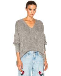 Frankie - Varsity Oversized V Neck Sweater - Lyst
