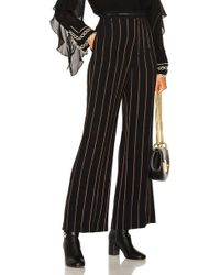 Chloé | Lurex Stripe Jacquard Wide Leg Trousers | Lyst
