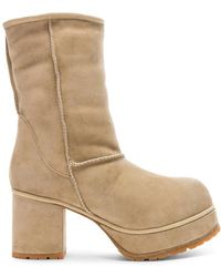 R13 - Sheep Shearling Boots - Lyst