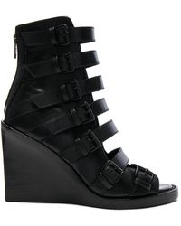Ann Demeulemeester | Leather Wedges | Lyst