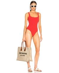 Solid & Striped - Daisy Swimsuit In Red - Lyst
