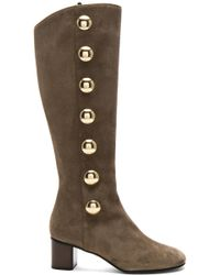 Chloé - Suede Orlando Knee High Boots - Lyst