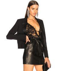 Saint Laurent - Rose Lace Stretch Bodysuit - Lyst