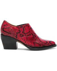 Chloé - Rylee Python Print Leather Ankle Boots - Lyst