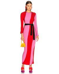 Attico - Twisted Stripes Long Dress - Lyst