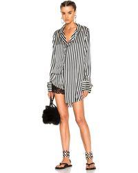 Marques'Almeida - Pyjama Top In Black & White Stripe - Lyst