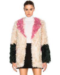 Sandy Liang | Ermie Lamb Fur Coat | Lyst