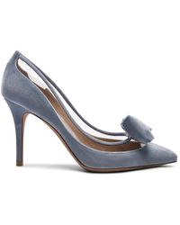 Valentino - Velvet Dollybow Removable Bow Pumps - Lyst