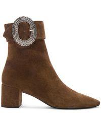 Saint Laurent - Joplin Western Suede Boots - Lyst