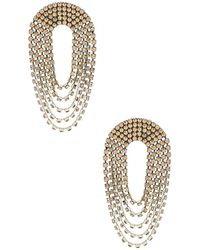 Alessandra Rich - Draped Circle Crystal Earrings - Lyst