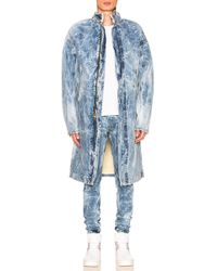 Fear Of God Selvedge Denim Holy Water Deckcoat With Sherpa Lining