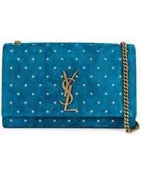 a93f1f08ba18 Saint Laurent Small Leopard Print Velvet Monogramme Kate Chain Bag ...