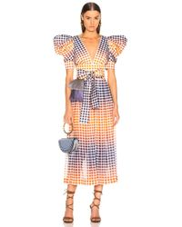 3c06cb013a71 Alexander McQueen Off-the-shoulder Belted Plisse Pleated Tea-length ...