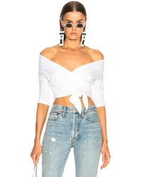 T By Alexander Wang - Double Layer Wrap Top - Lyst