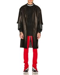 Fear Of God Leather Overcoat