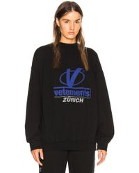 Vetements - Zurich Print Crewneck - Lyst