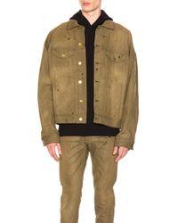 Fear Of God - Selvedge Denim Trucker Jacket In Vintage Gold - Lyst