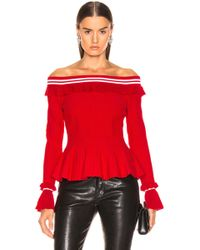 Jonathan Simkhai - For Fwrd Off The Shoulder Ruffle Top - Lyst
