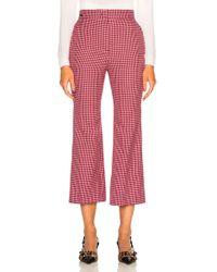 Fendi - Micro Madras Wool Trousers - Lyst