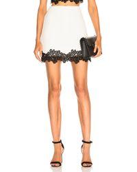David Koma - Lace Trim Mini Skirt - Lyst