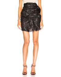 Carmen March - Buckle Mini Skirt In Black - Lyst