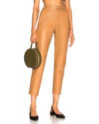 Zeynep Arcay - Belted Leather Pants - Lyst